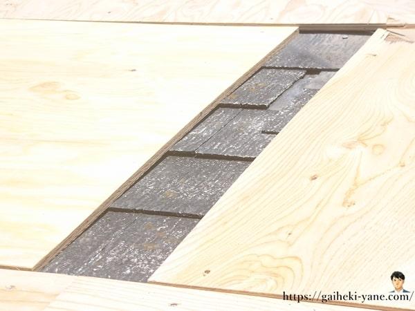 ベニヤ板の施工
