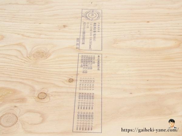 ベニヤ板を挟むカバー工法