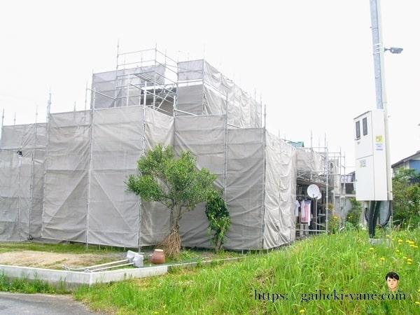 外壁・屋根塗装・カバー工法の足場設置