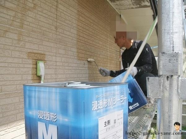 1階外壁下塗り&軒天仕上げ塗り