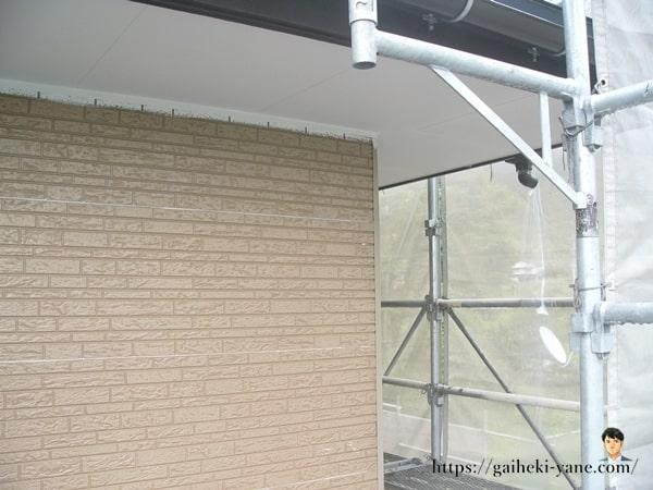 2階外壁&軒天下塗り