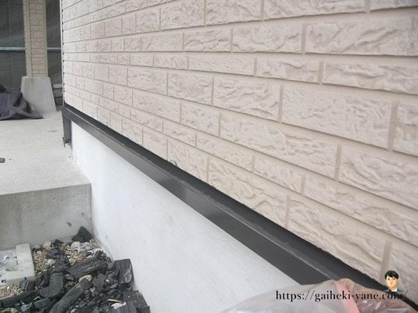 水切り仕上げ塗装&1階外壁下塗り