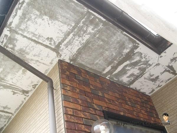 軒天塗装剥ぎ