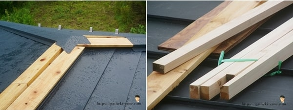 屋根ガルバリウム鋼板貼りと雨を体験した感想