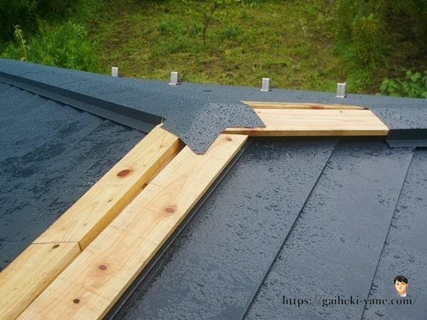 1階屋根ガルバリウム鋼板貼り(ちょっと後半)