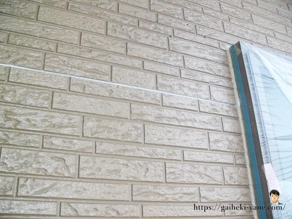 下塗りまで完成した外壁