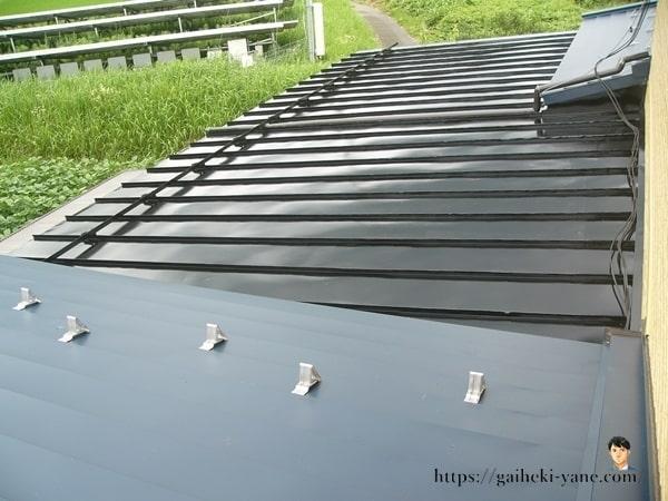 完成した屋根塗装