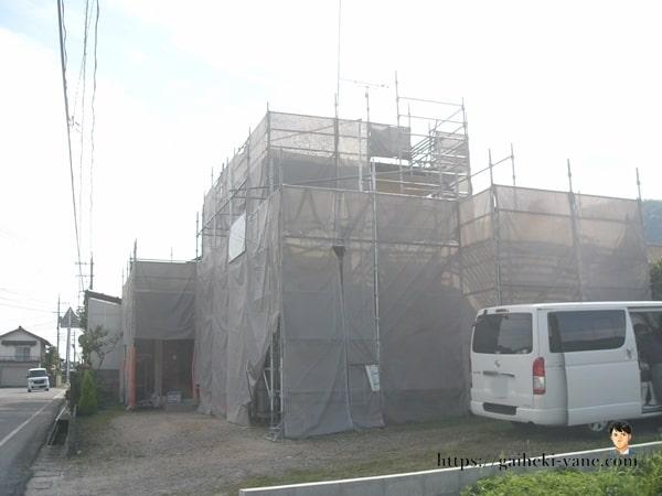 6月21日:1階の軒天仕上げ塗装