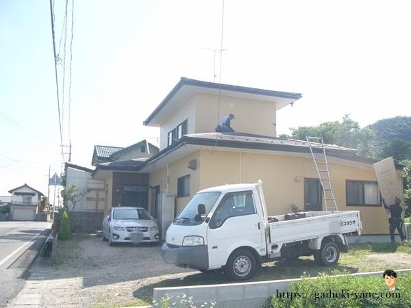7月1日:1階屋根カバー工法(下処理)