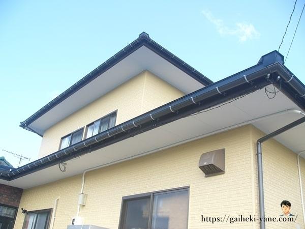 屋根カバー工法の雨樋について